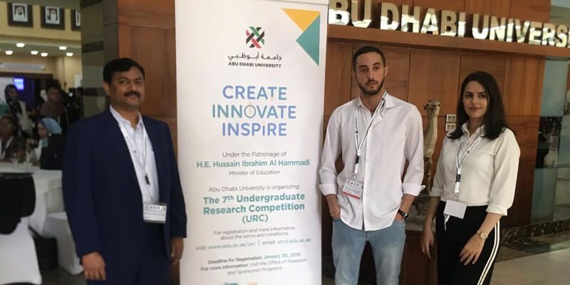 CUCA Participates in Abu Dhabi University Research Competition