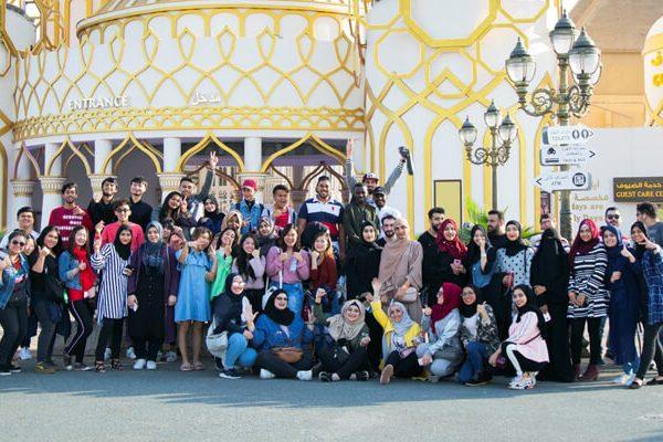 رحلة طلبة الكلية للقرية العالمية
