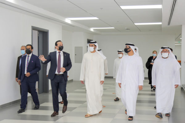 City University College of Ajman welcomed His Highness Sheikh Rashid bin Humaid Al Nuaimi, Chairman of the Board of Trustees, and His Excellency Eng. Hussain bin Ibrahim Al Hammadi, Minister of Education.